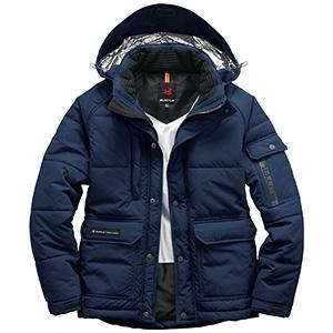 防寒ジャケット(大型フード付) ユニセックス 7510−3 ネイビー (SS〜3L)