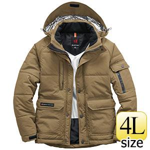 防寒ジャケット(大型フード付) ユニセックス 7510−23 カーキ (4L)