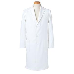長袖ドクタージャケット メンズ R2492−21 ホワイト (S〜4L)