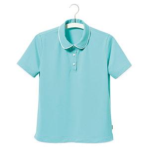 半袖ポロシャツ UF8935−15 レディース グリーン (5〜17号)