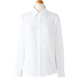 長袖ブラウス 36668 ホワイト (5〜19号)