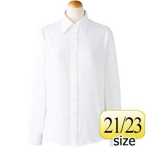 長袖ブラウス 36668 ホワイト 21・23号