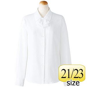 長袖ブラウス (リボン付) 36678 ホワイト 21・23号