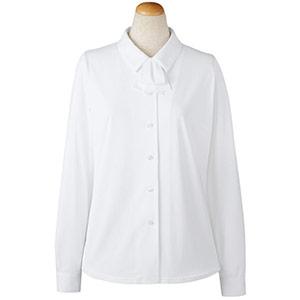 長袖ブラウス リボン付 36798 ホワイト (5〜19号)