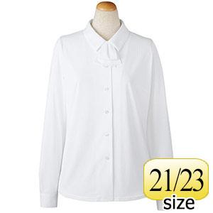 長袖ブラウス リボン付 36798 ホワイト 21・23号