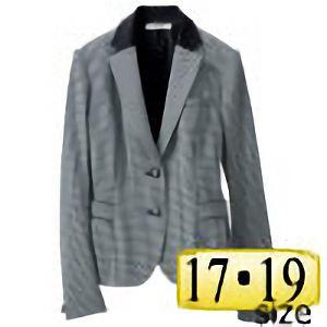 ジャケット 24798 ホワイト×ブラック (17・19号)