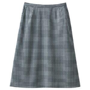 Aラインスカート 16508 ホワイト×ブラック (5〜19号)
