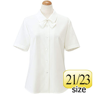 TioTio 半袖ブラウス (リボン付) ホワイト 36188 21・23号