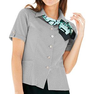 半袖 オーバーシャツ リボン付 50120 ブラック 5〜15号