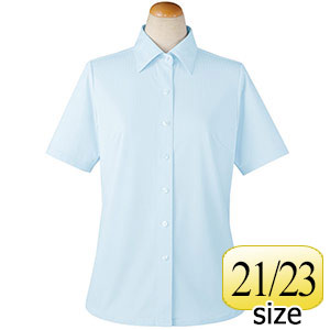 半袖ブラウス 36802 サックス 21・23号