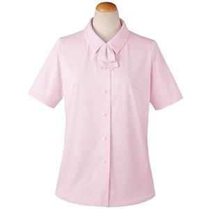 半袖ブラウス リボン付 36813 ピンク (5〜19号)