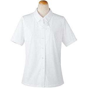 半袖ブラウス リボン付 36818 ホワイト (5〜19号)