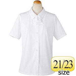 半袖ブラウス リボン付 36818 ホワイト 21・23号