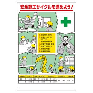 安全施工サイクル標識 336−27