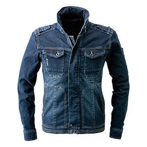 ストレッチワークジャケット 7250−11 インディゴブルー
