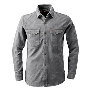 ストレッチワークシャツ 7251−10 カーキ (M〜4L)