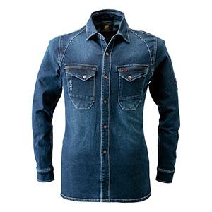 ストレッチワークシャツ 7251−11 インディゴブルー
