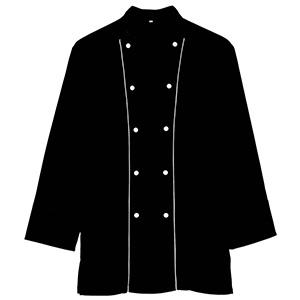 八分袖コックコート 2064 00 ブラック
