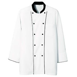八分袖コックコート 2064 01 ホワイト