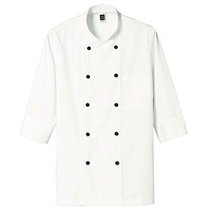 七分袖コックコート 2072 02 オフホワイト