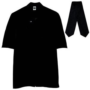 五分袖カフェコート タイ付 2065 00 ブラック