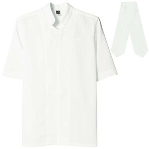 五分袖カフェコート タイ付 2065 01 ホワイト
