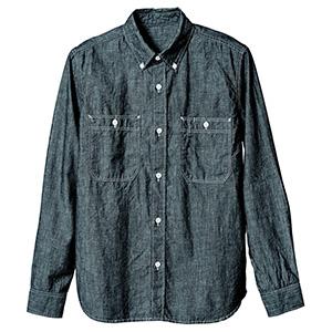 長袖ボタンダウンシャツ 1643 00 ブラック