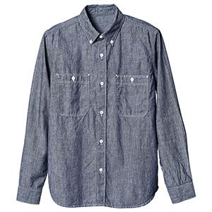長袖ボタンダウンシャツ 1643 56 ブルー