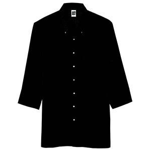 七分袖ボタンダウンシャツ メンズ 1583 00 ブラック