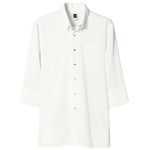 七分袖ボタンダウンシャツ メンズ 1583 02 オフホワイト