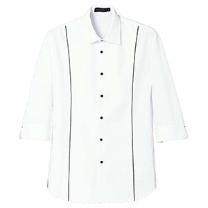 七分袖シャツ 1661 01 ホワイト