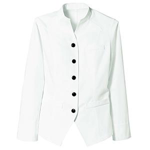 長袖モンキーコート レディス 2033 01 ホワイト