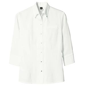 七分袖ボタンダウンシャツ レディス 1582 02 オフホワイト