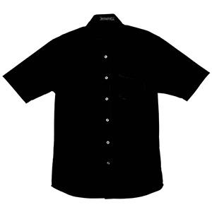 半袖ワイドカラーシャツ 1609 00 ブラック