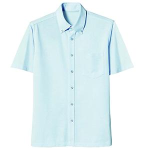 半袖ボタンダウンニットシャツ 1646 12 サックス