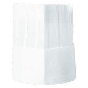 不織布コック帽角形 6096 01 ホワイト