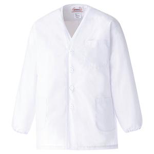 男子衿なし 長袖 白衣 EB260