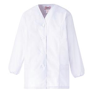 女子衿なし 長袖 白衣 EB450