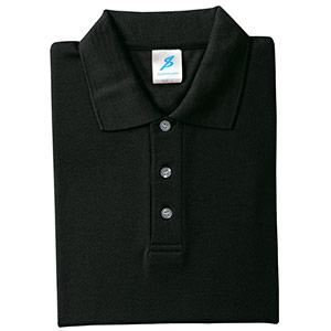 吸汗速乾シャツ 清涼感半袖ポロシャツ T06SP−11 ブラック