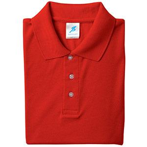 吸汗速乾シャツ 清涼感半袖ポロシャツ T06SP−3 レッド