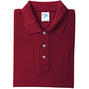 吸汗速乾シャツ 清涼感半袖ポロシャツ T06SP−26 バーカンディ