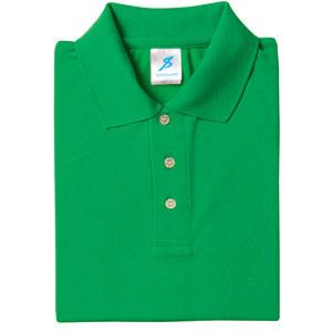 吸汗速乾シャツ 清涼感半袖ポロシャツ T06SP−46 グリーン