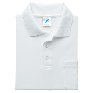 清涼感半袖ポロシャツ (ポケ付) T17PS−12 ホワイト