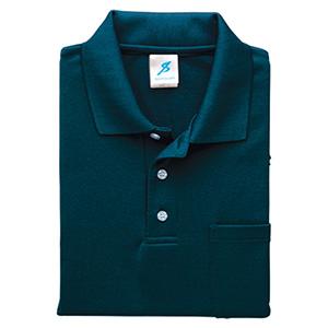 清涼感半袖ポロシャツ (ポケ付) T17PS−33 ネイビー