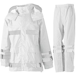 夜間作業用レインウェア 安全レイン FS−6000 ホワイト