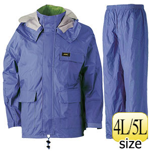 雨衣 透湿 MOA シータレインスーツ A−660 ブルー 4L・5L