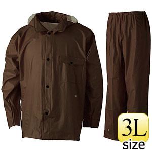 雨衣 ウェーブロック 安全コート ガンメタル 3L