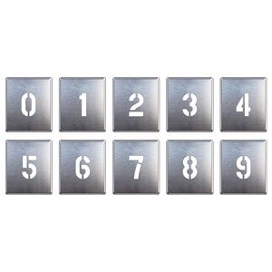 349−06A 吹付け用プレート 0〜9(10枚1組)