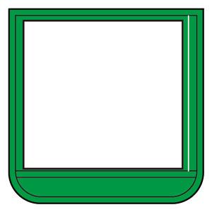 ポケット胸章緑 368−14