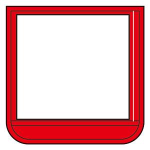 ポケット胸章赤 368−15